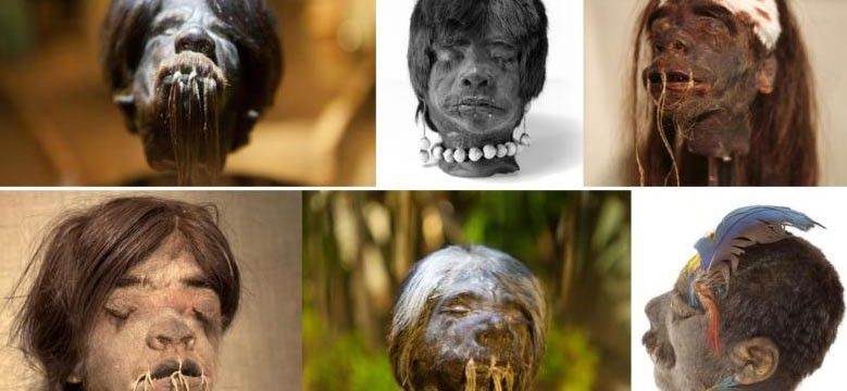 Ten Creepy Images of the Shrunken Heads of Ecuador